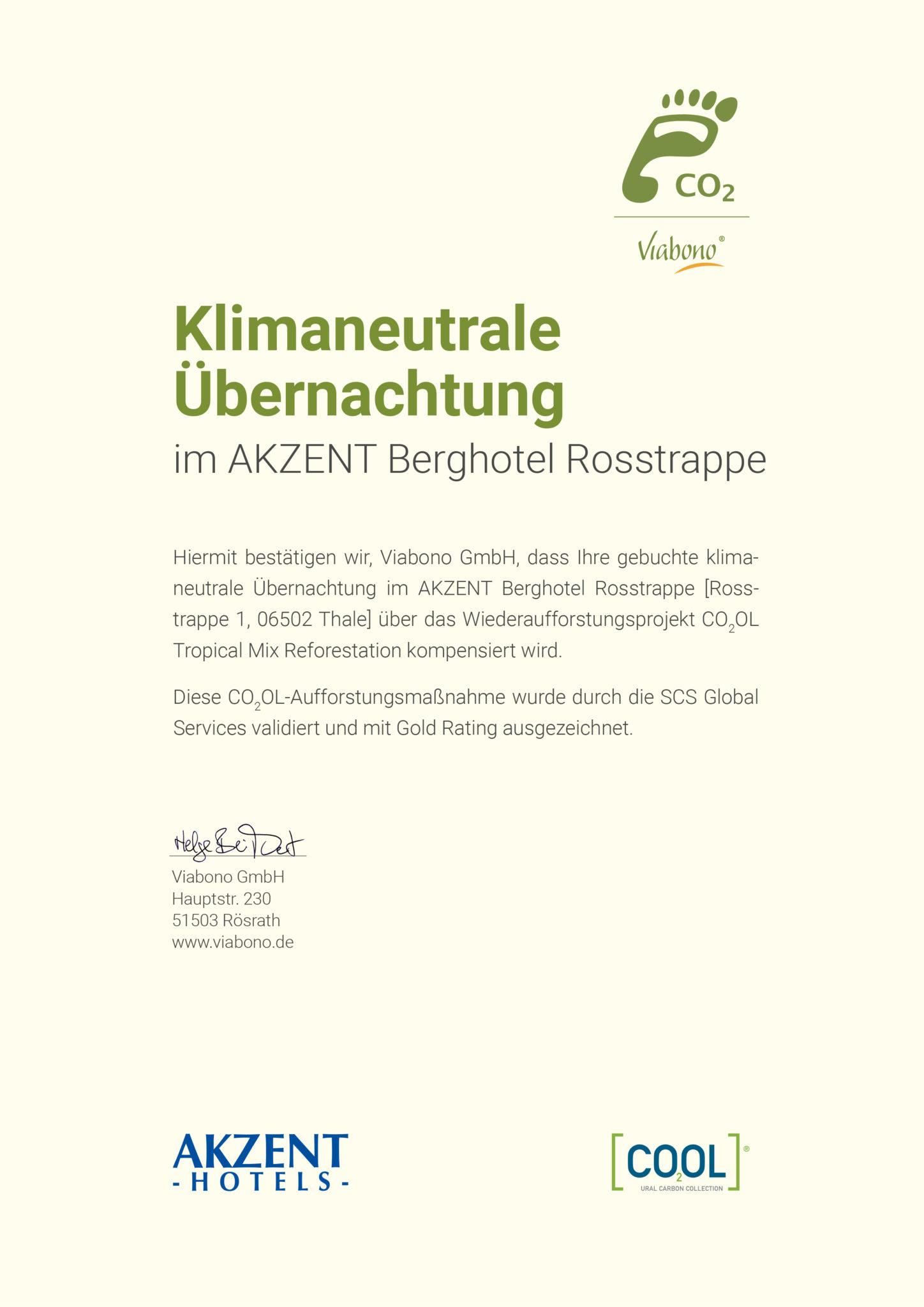 Zertifikat_klimaneutraleUebernachtung_Rosstrappe_032018