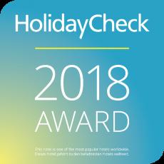 Wir sind Gewinner des Holiday Check Awards 2018