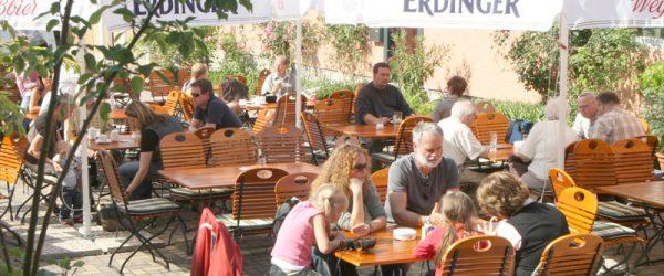 Biergarten des Berghotels Rosstrappe